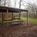 The washing up shelter at the Newtimber campsite