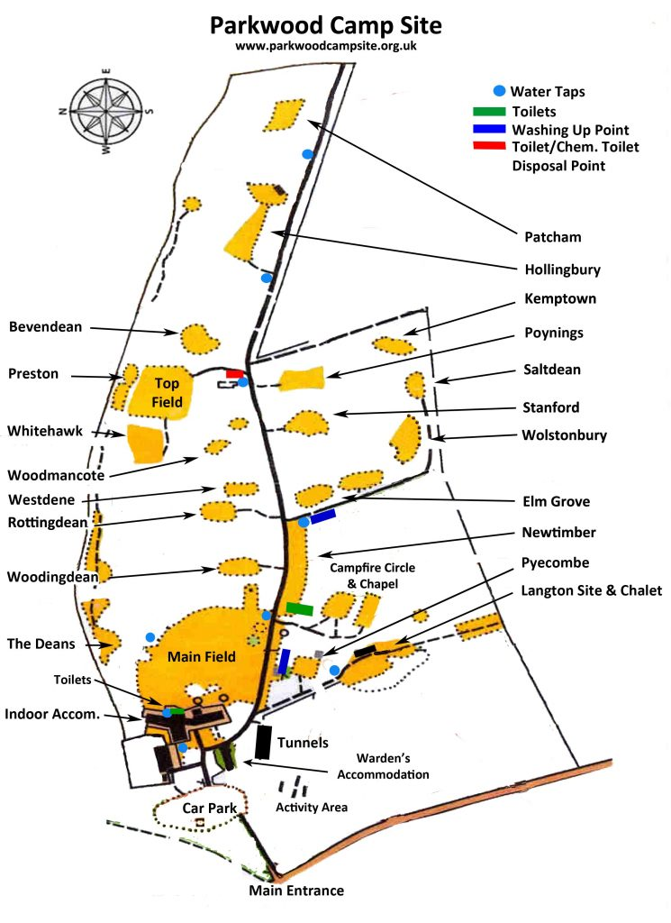 Site map of Parkwood